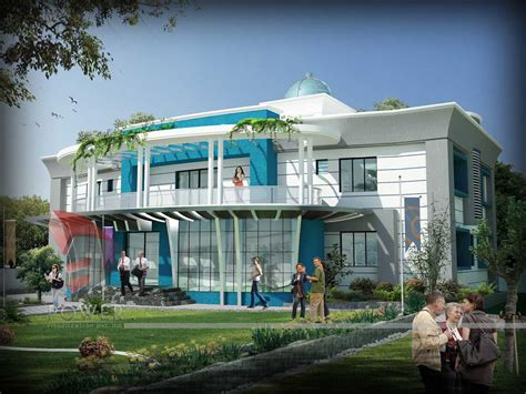 3d architecture design hotel sports 3d design