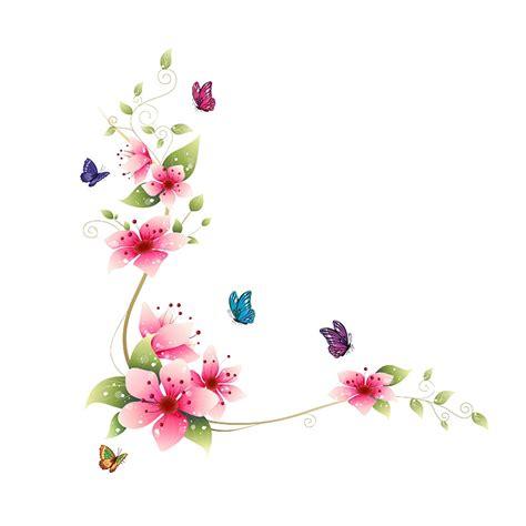 Peel And Stick Removable Wallpaper by Blomsterranke I Pink Med Sommerfugle Worldofstickers Dk