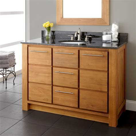 48 Quot Venica Teak Vanity For Undermount Sink Natural Teak Bathroom