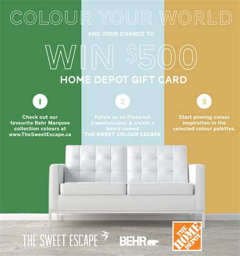Home Depot Giveaway 2014 - colour inspiration behr marquee collection 500 home depot giveaway the sweet