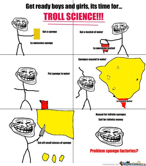 Troll Physics Meme - troll science lv sponge by awesomesauce9 meme center