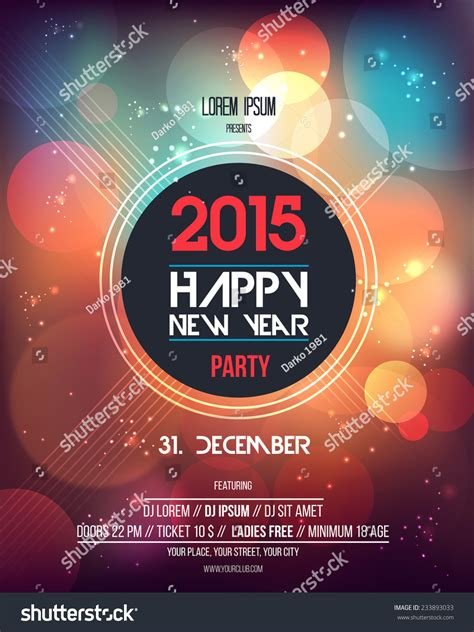 happy new year 2015 template happy new year 2015 abstract flyer template can be used