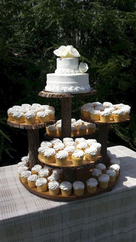 Rustic Wedding Cake Cupcake Stand Design ? OOSILE