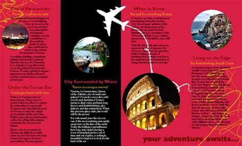 19 travel brochure travel agency brochure sample