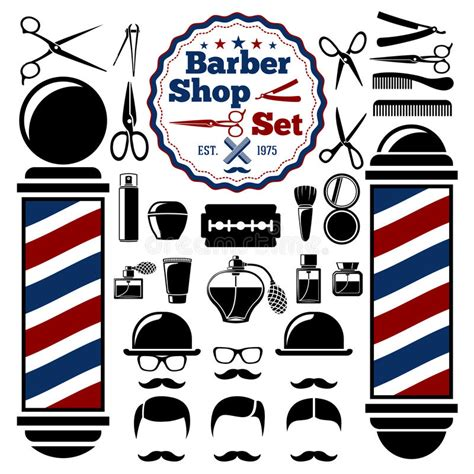 barber shop vector price list template haircut and shave retro barber vector barber shop accessories set with silhouettes of