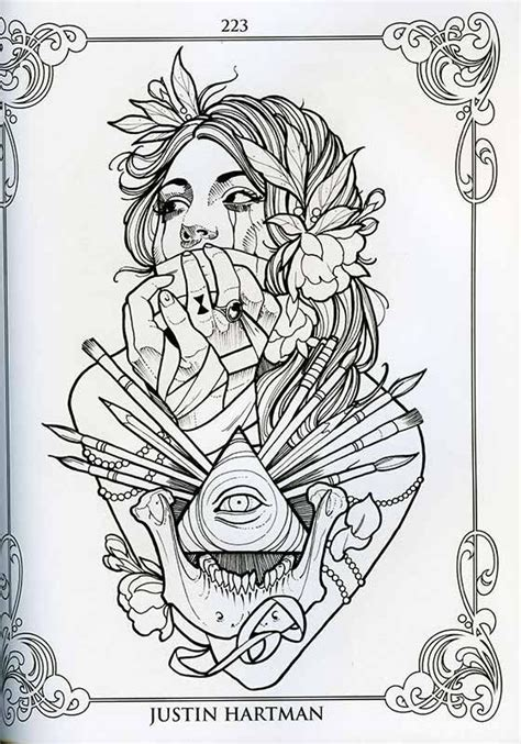 tattoo flash coloring pages the coloring book project vol 2 by justin hartman