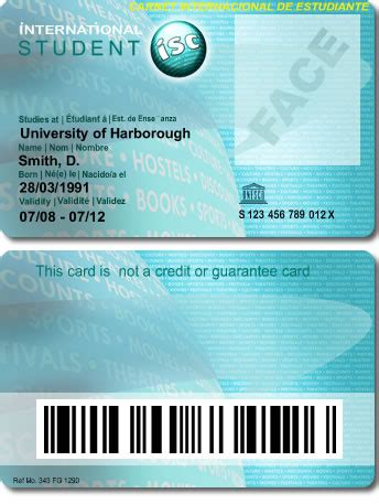 isic card template student card buy ids including student