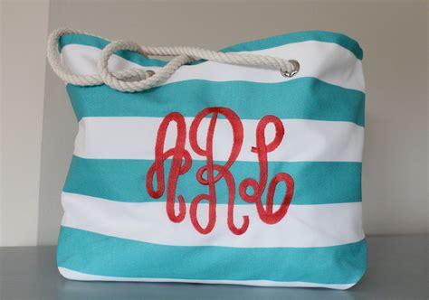 monogram beach bag large beach bag personalized bag