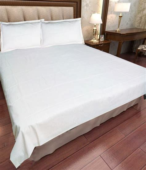 white bed sheets scala plain white double bed sheets buy scala plain