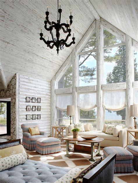 log cabin interiors houzz