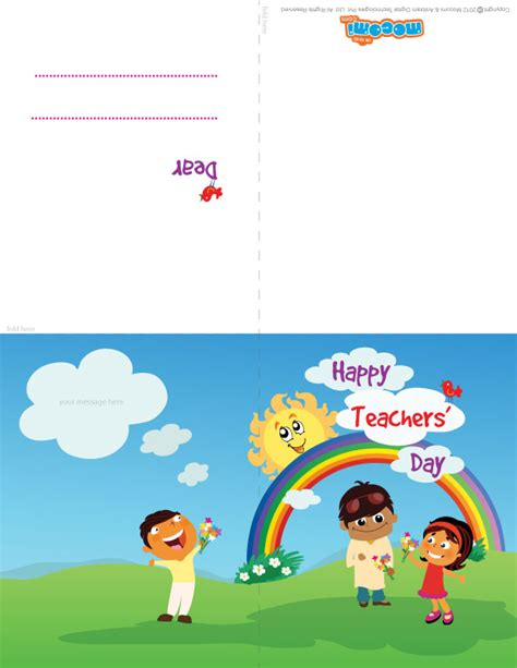 printable teachers day card mocomi kids wish quot happy teachers day quot wish your