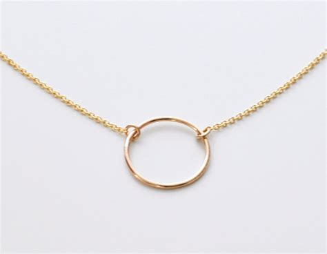 open circle necklace gold circle pendant necklace small