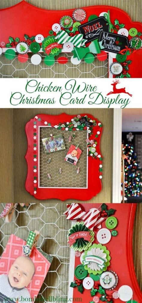christmas card display diy christmas card holder and display ideas landeelu com