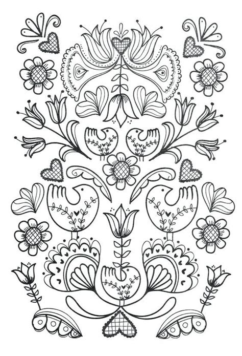 Folk Coloring Book