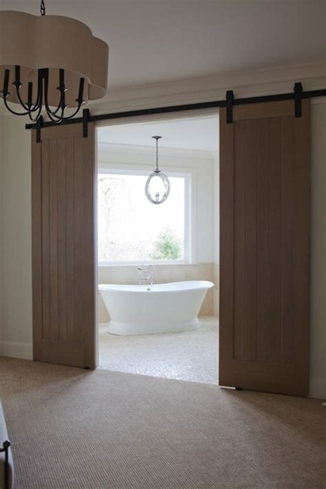 Sliding Barn Doors For Bathroom Bathroom Barn Doors Transitional Bathroom Jenny Baines
