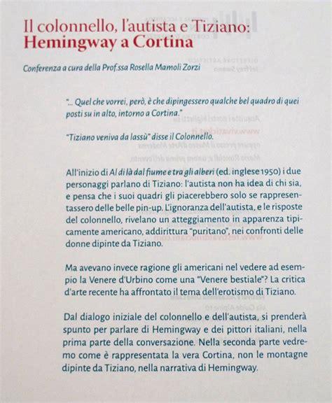 testo hemingway reportage della conferenza su hemingway a cortina