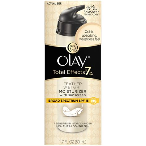 Olay Total Effect Kemasan Kecil olay total effects featherweight moisturizer with spf 15 1 7 oz skin care
