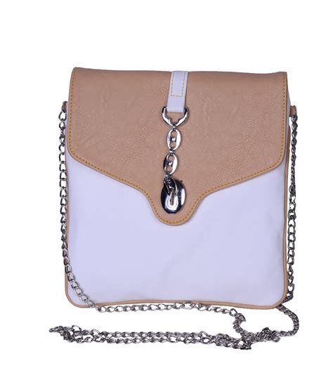 Golden Fancy Sling Bag buy hysty white leather fancy designer sling bag at best prices in india snapdeal
