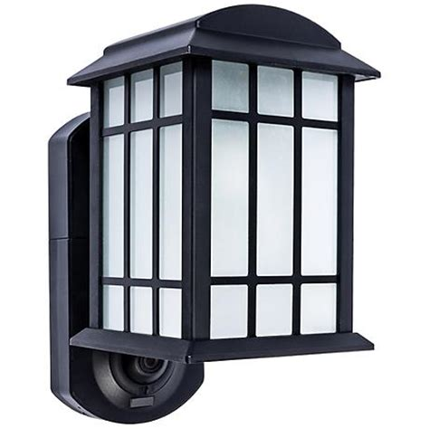 outdoor flood light with camera craftsman black outdoor smart security wall light 10f59
