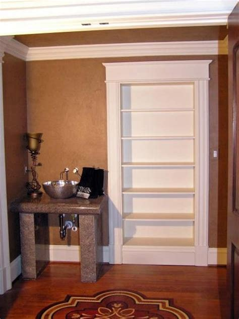 Bookshelf Door In Closed Position Stashvault Secret Closet Door