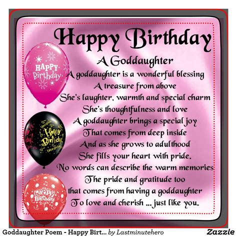 Happy Birthday Wishes For My Goddaughter God Daughter Quotes
