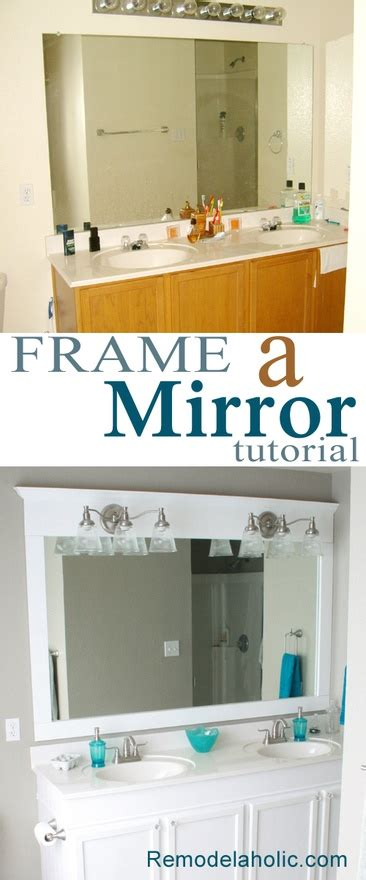 framing a large bathroom mirror another framing a large bathroom mirror tutorial this