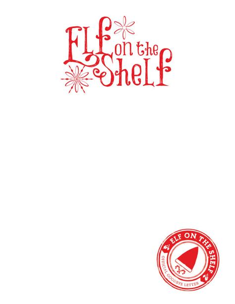printable elf letterhead elf on the shelf stationary balancing home with megan bray