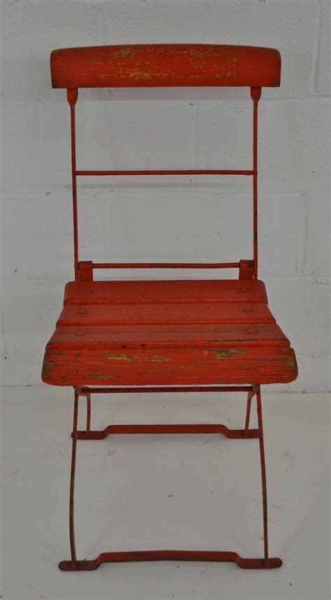 Iron Bistro Chairs Vintage Iron And Oak Folding Bistro Chair For Sale At 1stdibs