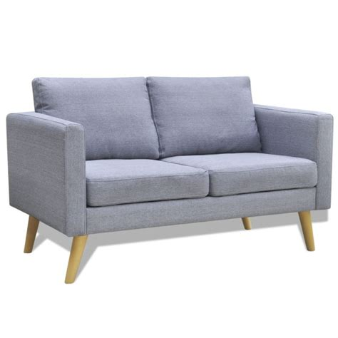 wide couches wide 2 seater polyester fabric sofa in light grey buy sofas