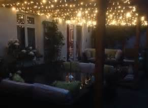 Patio Lights On Fairylights On Trellis Gazebo Above Side Return Gorgeous