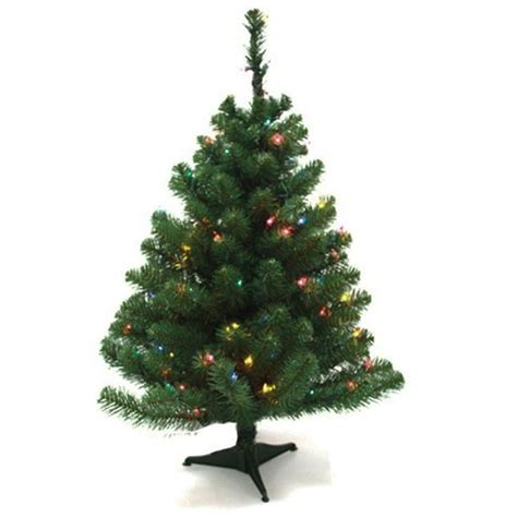 Mini Christmas Tree 24 Xmas Artificial Lighted Pine Lights For Small Trees