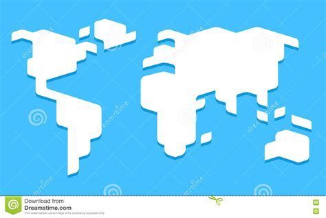 world map simple vector stylized world map stock vector image of earth