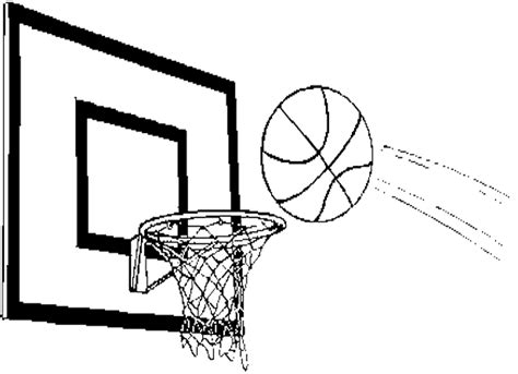 free coloring pages of basketball hoop