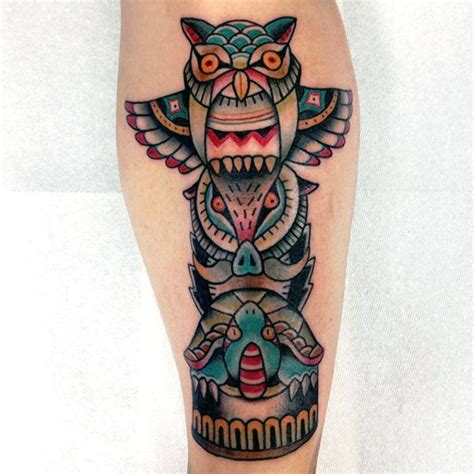 owl tattoo totem 70 totem pole tattoo designs for men carved creation ink