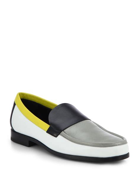 yellow loafers hardy leather multicolored loafers in yellow for
