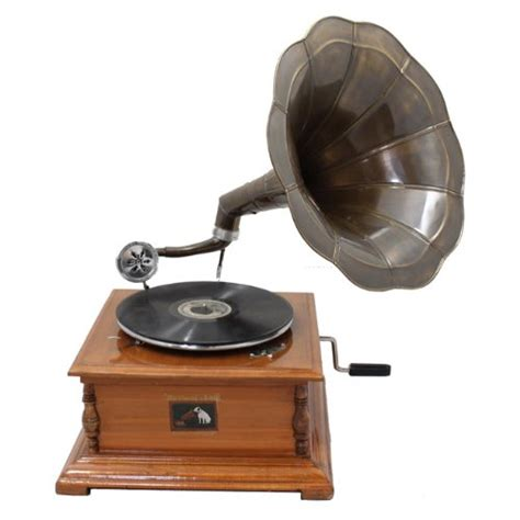 Gramaphone Victor Antique Replica Rca Victor Phonograph Gramophone With