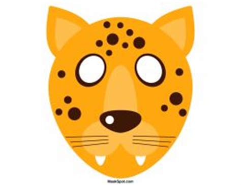 cheetah mask template cheetah mask templates including a coloring page version