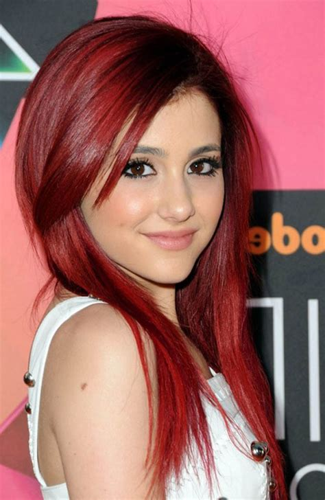 hairstyles for dyed red hair ariana grande red hair dye 2017 medium hairstyles ideas
