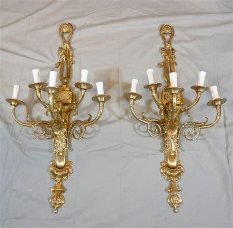 applique in stile coppia di appliques in bronzo in stile luigi xvi ladario