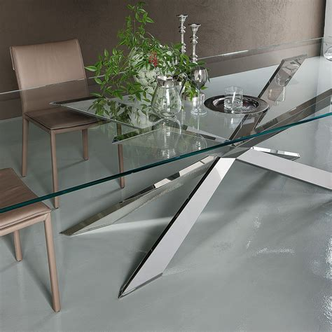 tavoli in cristallo allungabili cattelan tavolo in cristallo lungo tre metri spyder di cattelan