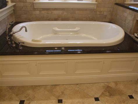 granite bathtub surround air bath tub in granite surround traditional bathroom
