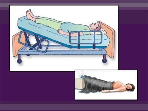 posturas de cama posiciones del paciente encamado