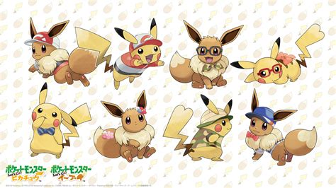 pokemon lets  pikachueevee wallpaper