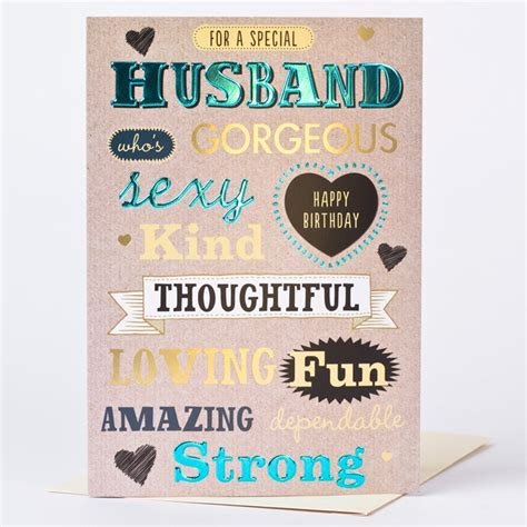 Birthday Card Husband Birthday Card Husband Who S Gorgeous Only 59p