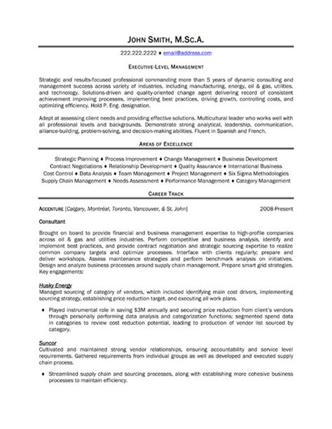 resume format manager level executive manager resume sle template