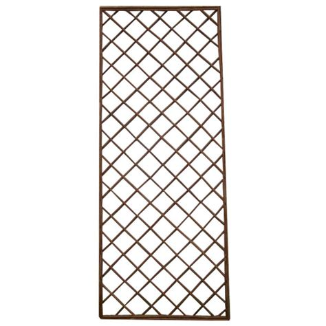 Plastic Garden Trellis Panels terra traditional willow trellis panel 60 x 150cm on sale fast delivery greenfingers