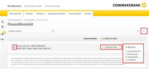 deutsche bank kontostand abfragen kontostand commerzbank gr 252 ne aktien