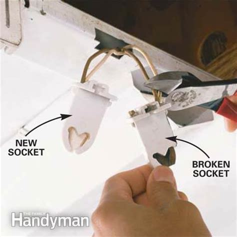 How To Replace L Socket by Fluorescent Lighting Fluorescent Light Repair Manual