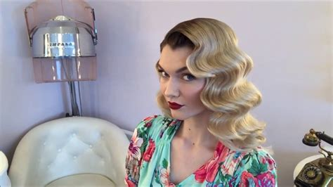 how to get old fashioned curls for hair for blavk tie event classic old hollywood waves hair the vintage beauty