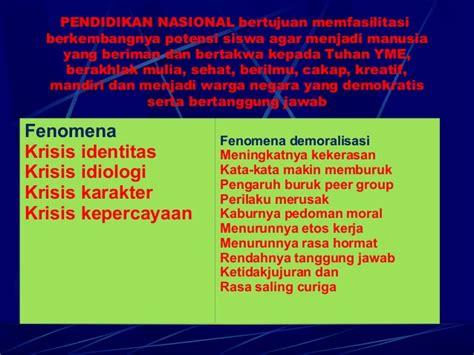 Pendidikan Karakter 3 pendidikan karakter bangsa